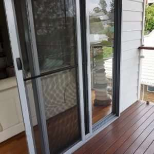 pet door installation, sliding door